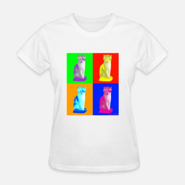 Andy Warhol Andy Furbol 4 Cats - Women's T-Shirt