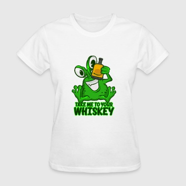 Take Me To Your Whiskey T-Shirt Funny Space Green - Women's T-Shirt