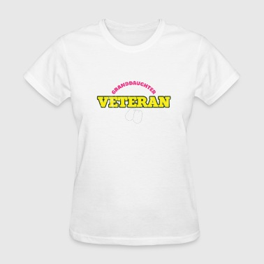 Guns Veterans Day Veterans day - Granddaughter Veteran - Women's T-Shirt