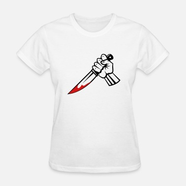 Knife Stab Stabbing - Women's T-Shirt