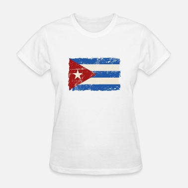 Cuba Cuba Flag - Vintage Look  - Women's T-Shirt