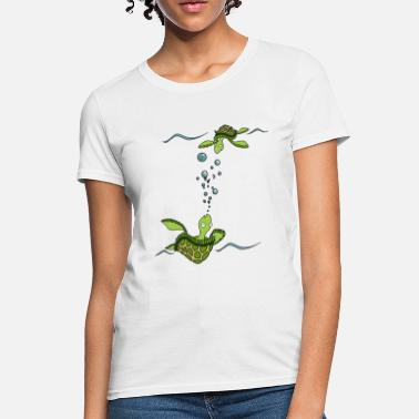 Erika Wasner Designs Sea Turtles - Women's T-Shirt
