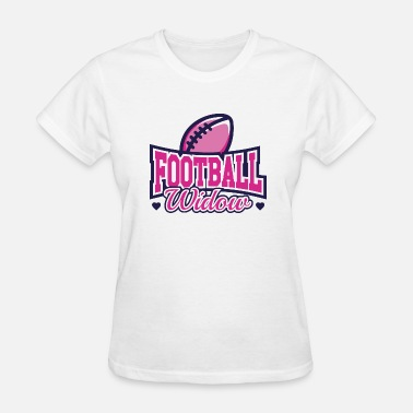 Widow Wife Football Widow - Women's T-Shirt