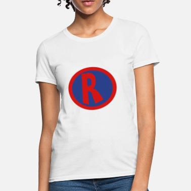 Super R Super, Hero, Heroine, initials, Super R - Women's T-Shirt