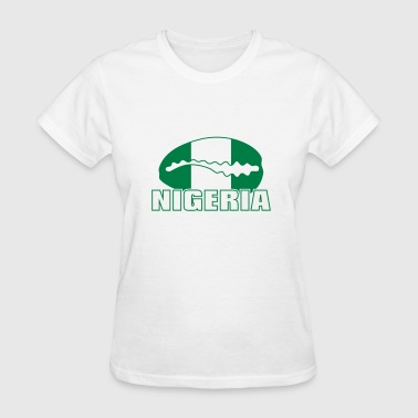 Minna Nigeria national flag with cauri - Women's T-Shirt