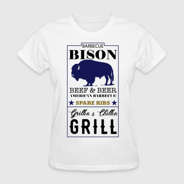 Spare Ribs Label Bison American Barbecue Spare Ribs - Women's T-Shirt