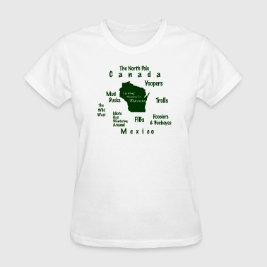 Funny World According To Wisconsin - Women's T-Shirt
