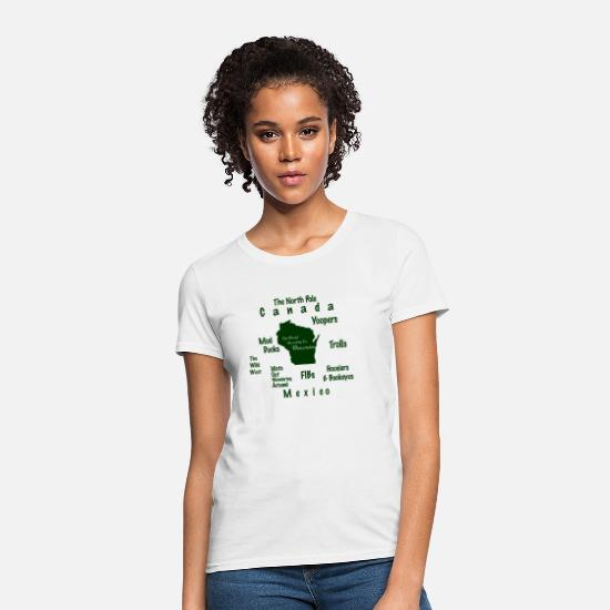 Wisconsin T-Shirts - Funny World According To Wisconsin - Women's T-Shirt white