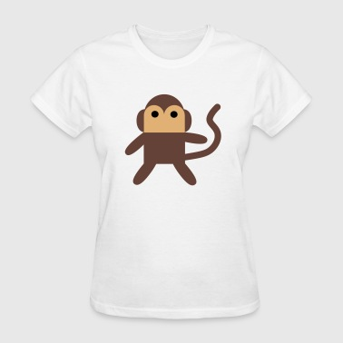 Cheeky Little Cartoon Monkey - Women's T-Shirt