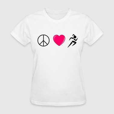 Peace Love Run - Women's T-Shirt
