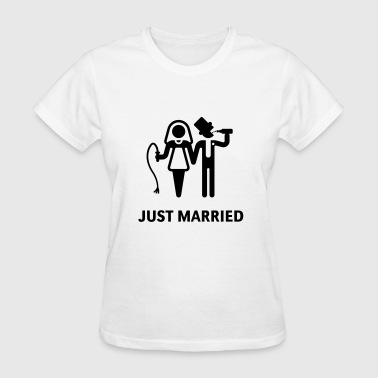 Just Married (Whip and Beer) - Women's T-Shirt