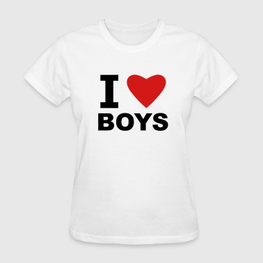 I Love Boys - Women's T-Shirt
