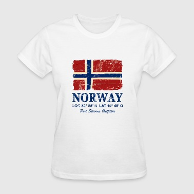 Norwegian Designs Norway Flag - Vintage Look - Women's T-Shirt