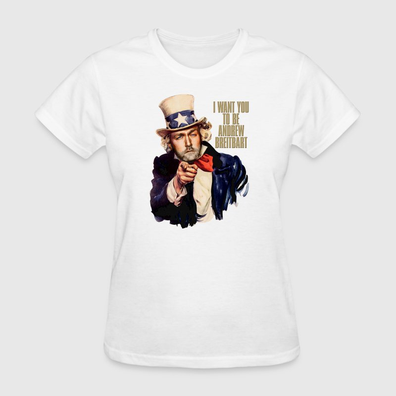 Andrew Breitbart as Uncle Sam - Women's T-Shirt
