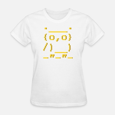 Picture ascii art: owl - Women's T-Shirt