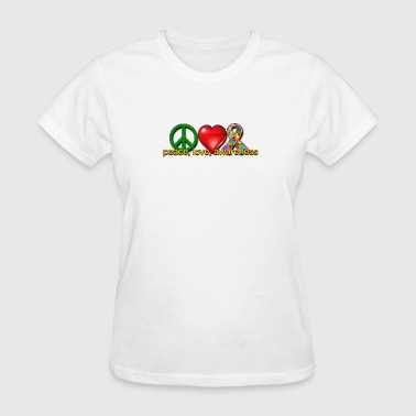 Peace, love, awareness - Women's T-Shirt