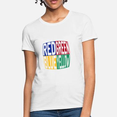 Blue red green blue yellow - Women's T-Shirt