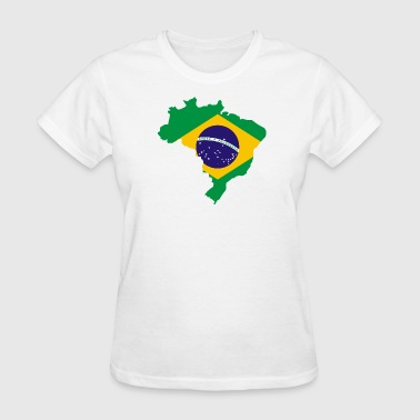 Map Brazilian Flag - Women's T-Shirt