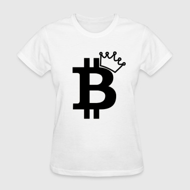 Logo Crown Bitcoin King Black Logo Design - Women's T-Shirt