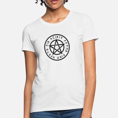 Wiccans Wiccan White Pentagram - Women's T-Shirt