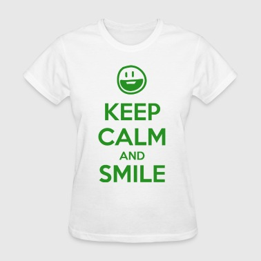 Smiling Keep Calm and Smile - Women's T-Shirt