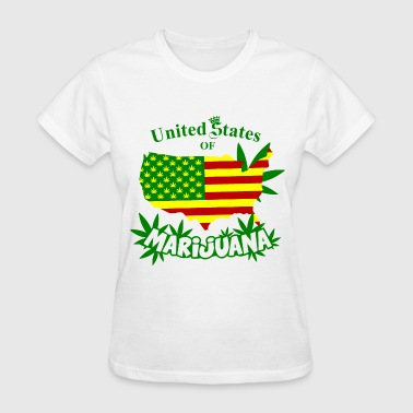 United States of MARIJUANA - Women's T-Shirt