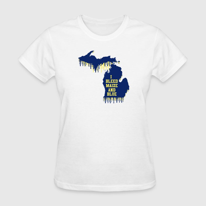 Michigan Bleed Maize and Blue - Women's T-Shirt