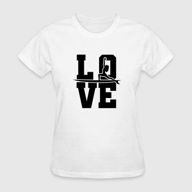 Love SUP And Yoga - Women's T-Shirt