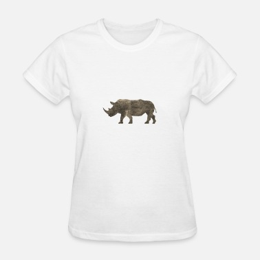 Jungle Apparel Silhouette Jungle Series Rhino - Women's T-Shirt