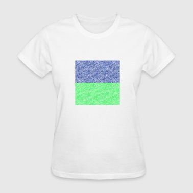 Oblong greenblue - Women's T-Shirt