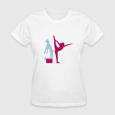 Yoga figure fitness splits sexy girl female hot cu - Women's T-Shirt