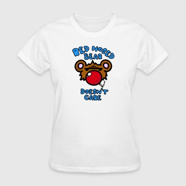 Red Nosed Red Nosed Bear - Women's T-Shirt