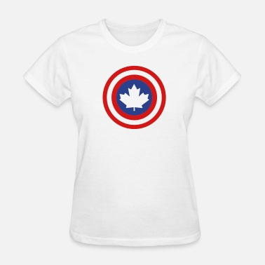 Captain America Shield Captain Canada Shield 2 Colour - Women's T-Shirt