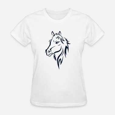 Rodeo Western BEAUTIFUL HORSE HEAD - Women's T-Shirt
