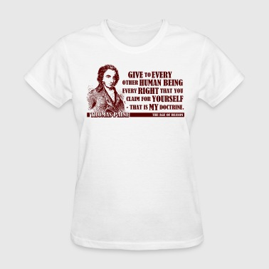 Doctrine Thomas Paine - The Age of Reason - Women's T-Shirt