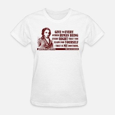 Aging Thomas Paine - The Age of Reason - Women's T-Shirt