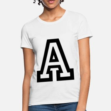 Letter Name Letter A - Women's T-Shirt