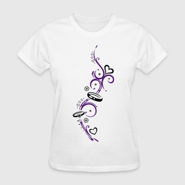 Tribal with Symbols of love - Women's T-Shirt