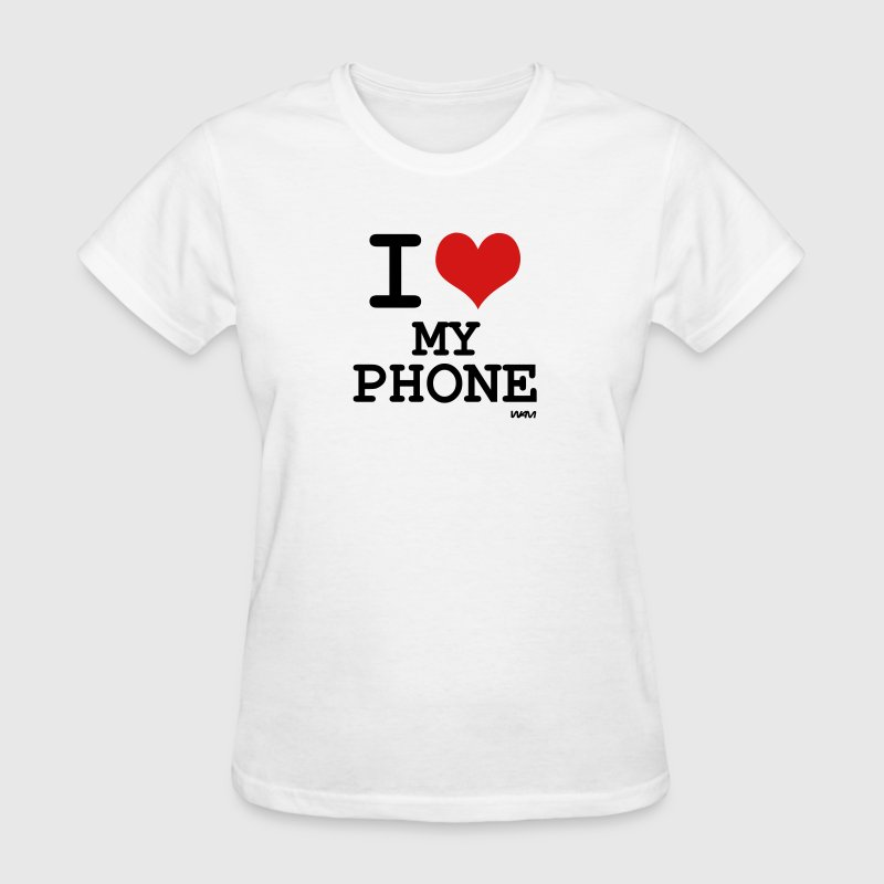 i love my phone by wam - Women's T-Shirt