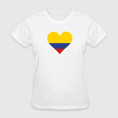 Colombia Latin America Heart Colombia (3c)++ - Women's T-Shirt