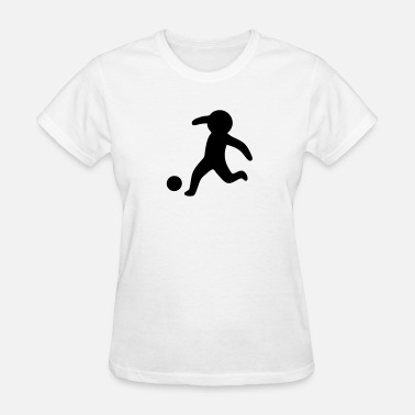 Stickfigure Kids Football / Soccer Stickman, Stickfigure - Women's T-Shirt