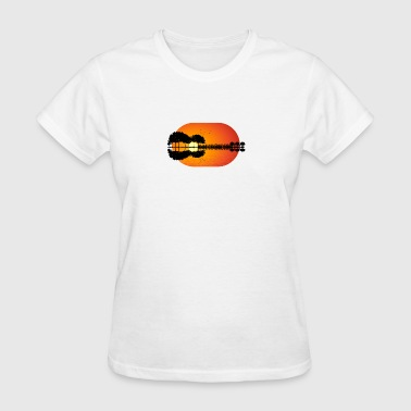 guitar island sunset - Women's T-Shirt