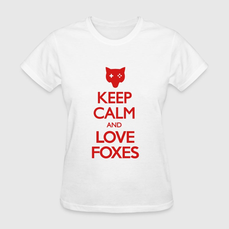 Keep Calm and Love Foxes - Women's T-Shirt
