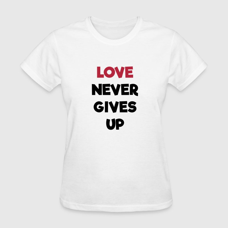 Love Never Gives Up - Women's T-Shirt