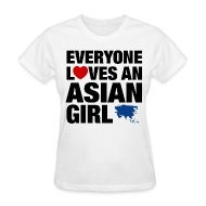 Asian everyone girl love shirt t