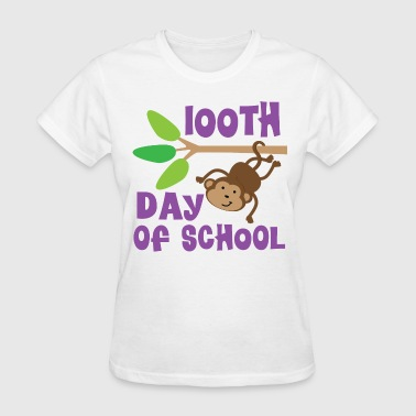 100th Day Of School Monkey - Women's T-Shirt