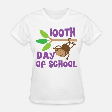 100th Day Of School 100th Day Of School Monkey - Women's T-Shirt