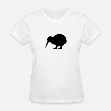 Little Bird Silhouette Kiwi Bird Silhouette - Women's T-Shirt