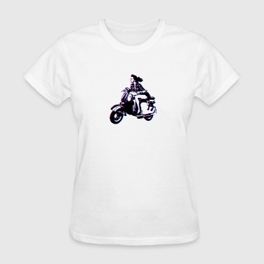 Girl Power Zip Vespa Scooter Girl - Women's T-Shirt
