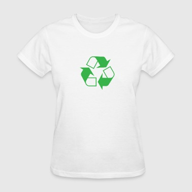 Recycling Recycle Symbol Green - Women's T-Shirt